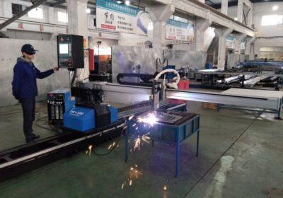 CNC portebla plasma flama tubo tranĉa maŝino de fajenco kun fabrika prezo